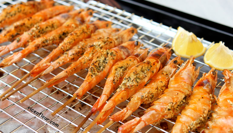 garlic-butter-grilled-prawn