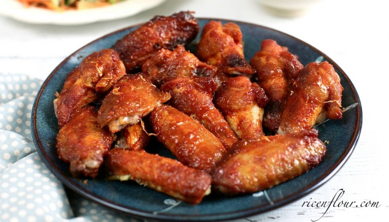Korean spicy chicken wing recipe rice n flour forumfinder Image collections