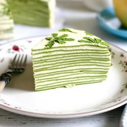 Matcha crepe cake recipe banner