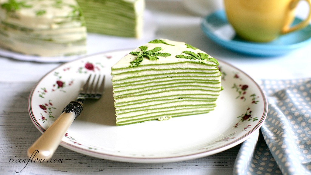 Matcha Mille Crepe Cake Recipe Green Tea Flavoured Crepe Cake With Video Rice N Flour