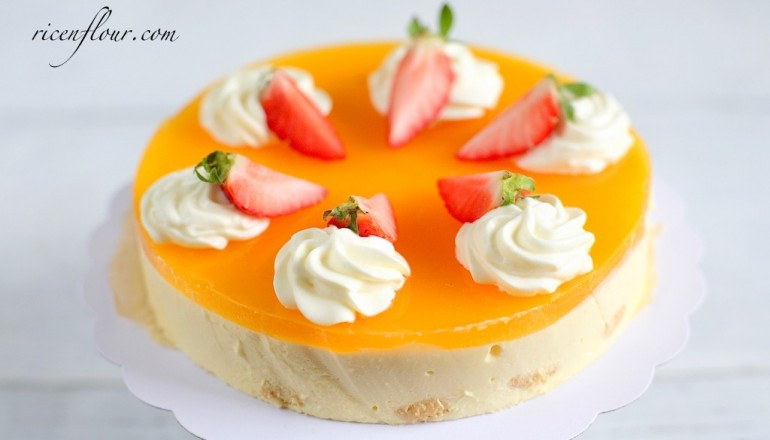 nobake passion fruit cheescake recipe banner