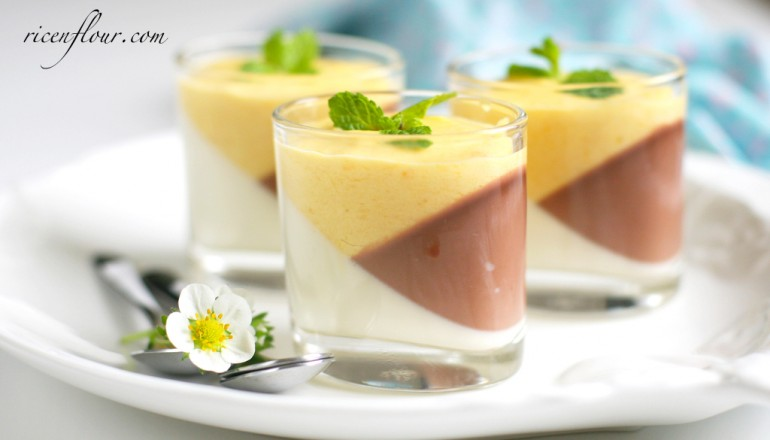 Tricolor panna cotta recipe