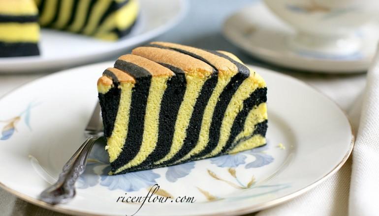 Zebra Ogura cake recipe with video Rice n Flour
