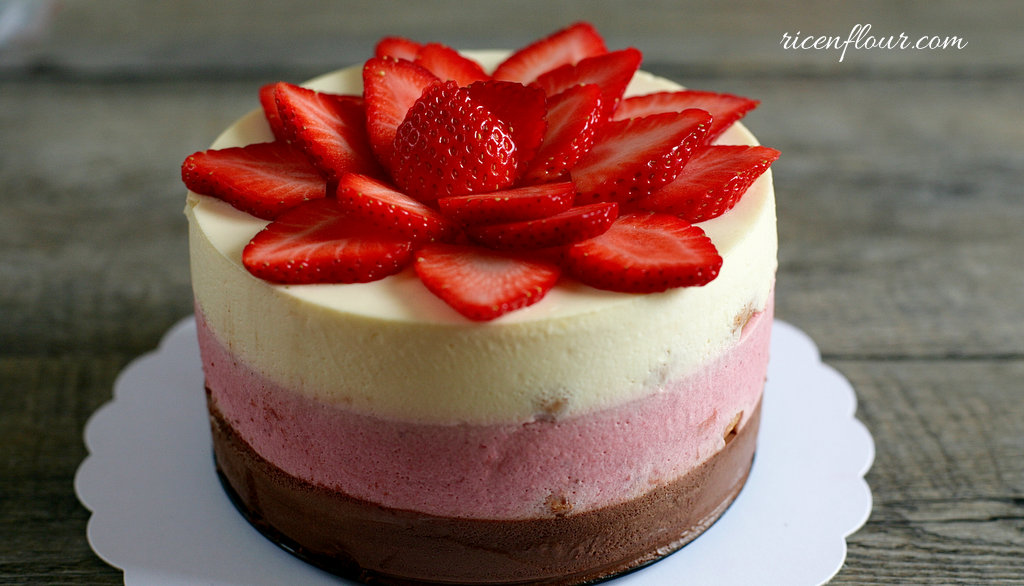 Neapolitan Mousse Cake Recipe
