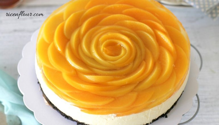 How To Make No Bake Peach Cheesecake Recipe Rice N Flour
